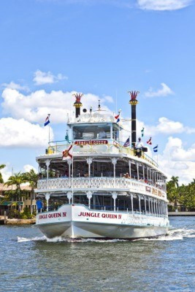 Stock Photo Jungle Queen Riverboat Fort Lauderdale Beach Fort Lauderdale City