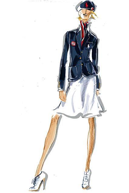 Sketch of Women's Opening Ceremony Uniform