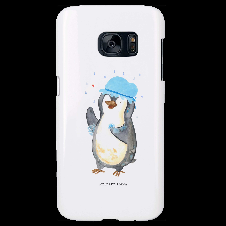 Samsung Galaxy S7 Handyhülle Pinguin duscht