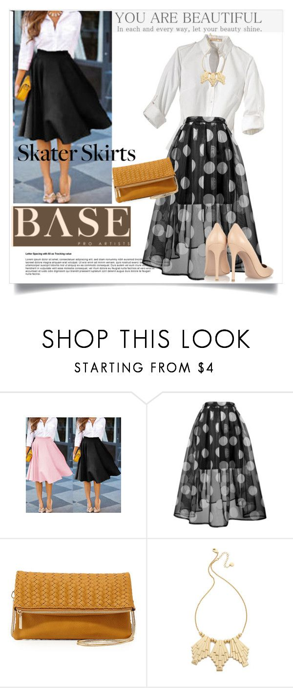 """""""Skater Style Skirts"""" by clotheshawg ❤ liked on Polyvore featuring Neiman Marcus, Jules Smith and Gianvito Rossi"""