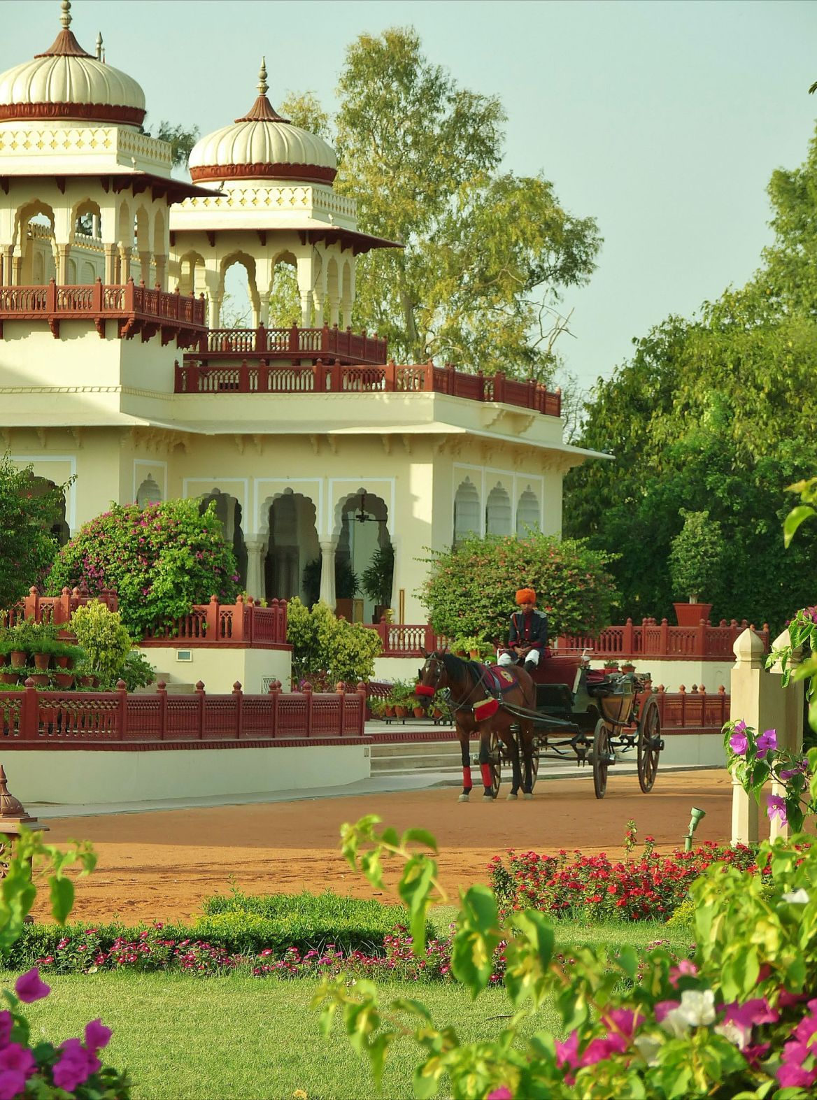 Horse And Carriage Tour Of Grounds Awaits Guests At Taj