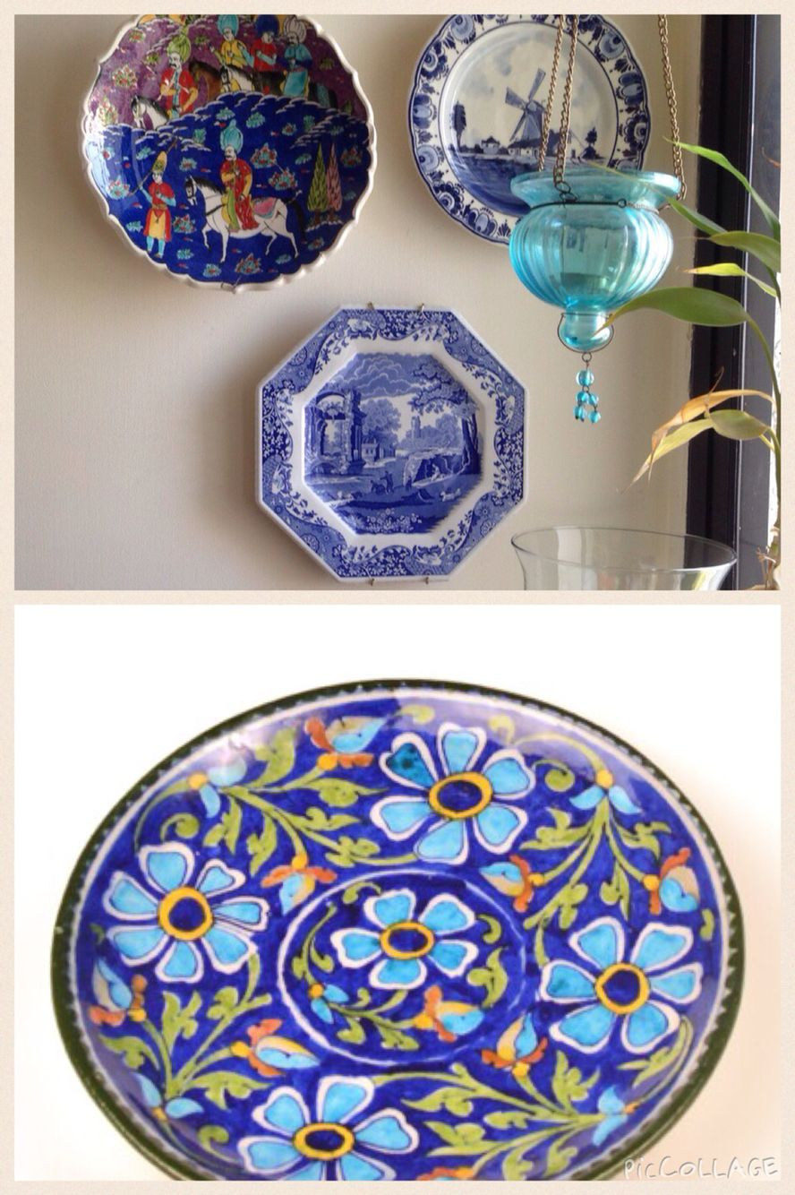 Blue Decorative Wall Plates Mesmerizing Decorative Wall Plates To Create Warm Colourful Corners At Home Review