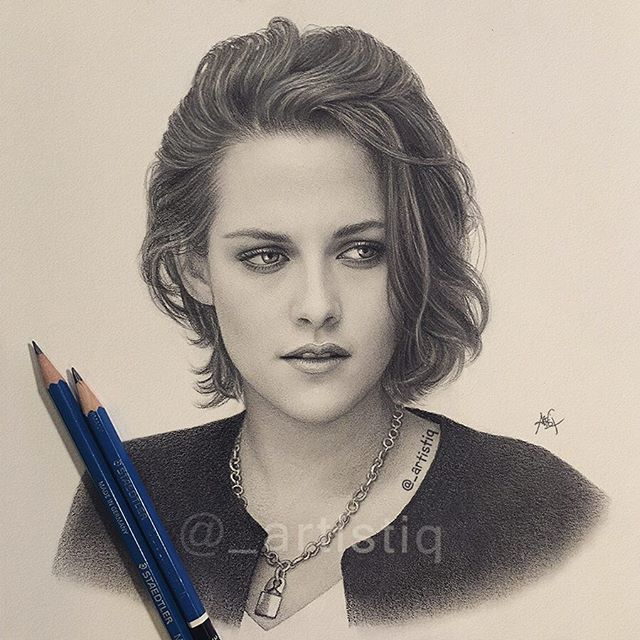 Instagram post by artistiq websta instagram analytics kristen stewart instagrampencil drawingsgraphite