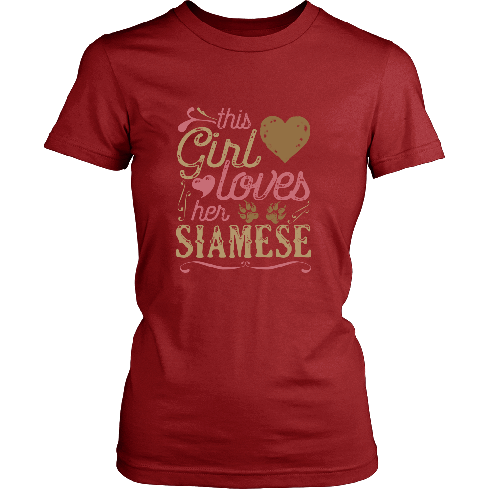 This Girl Loves Her Siamese Cat Lover Shirt And Gift