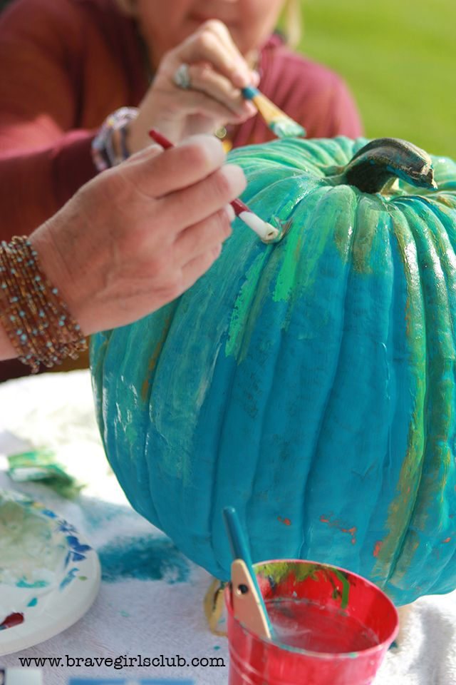 Painted Pumpkin Step By Step Video What S Your Favorite Color Painted Pumpkins Holiday Decorations Fall Fall Harvest Decorations