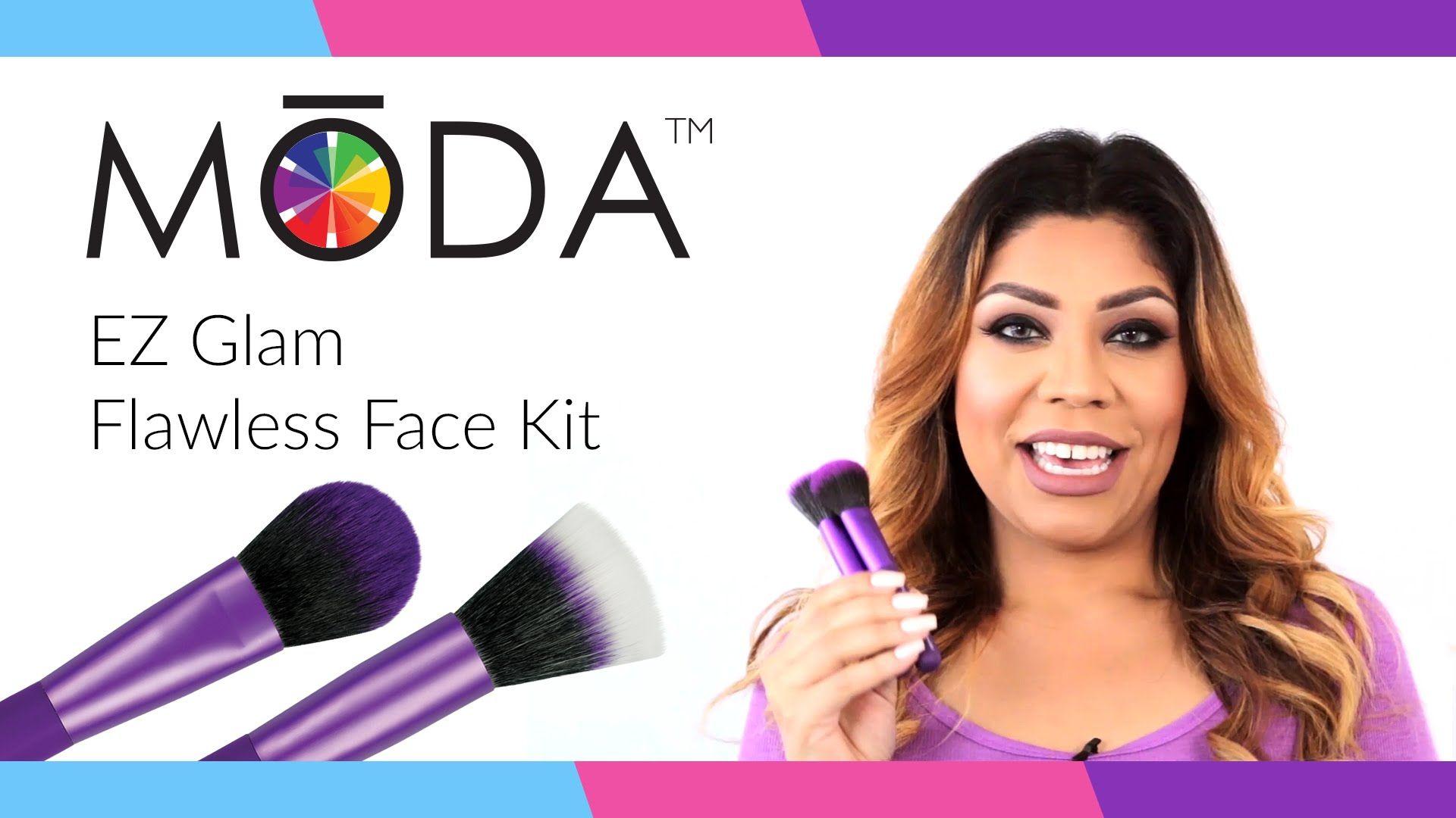 MODA® EZ Glam Flawless Face Brush Kit ft. DaniExpertMUA
