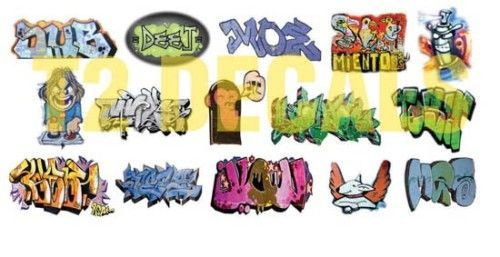 HO Scale Custom Graffiti Decals #11 - Weather Your Box Cars, Hoppers, & Gondolas #T2Decals