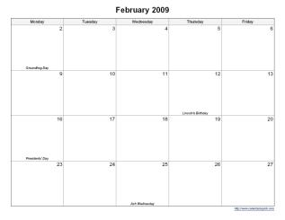 Printable 5 Day Monthly Calendar Calendarsquick Com Work Week Calendar Calendar Printables Calendar Template