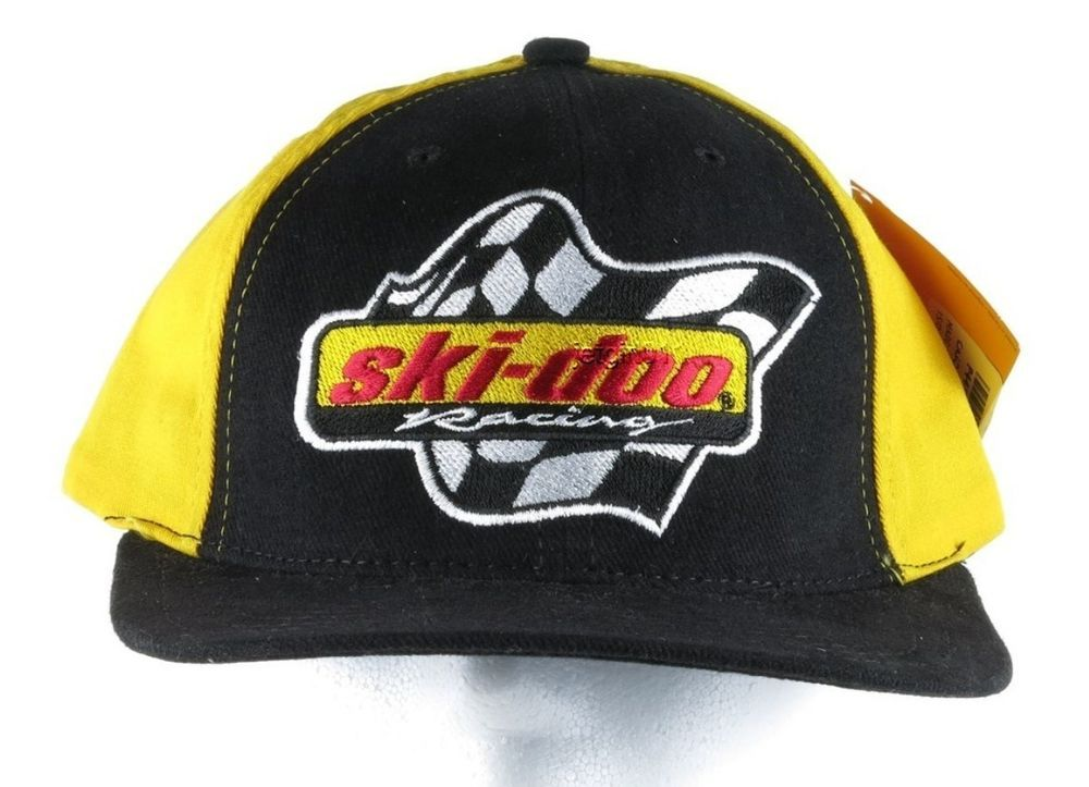 7fc87bb197e Ski-Doo Casquette Racing Baseball Cap Hat Black Vintage Embroidered Snap  Back  SkiDoo  BaseballCap