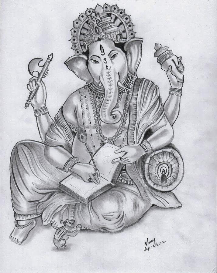 Pencil sketch of lord Ganesha | GAURI PUTRA VIGHNAHARTA ...