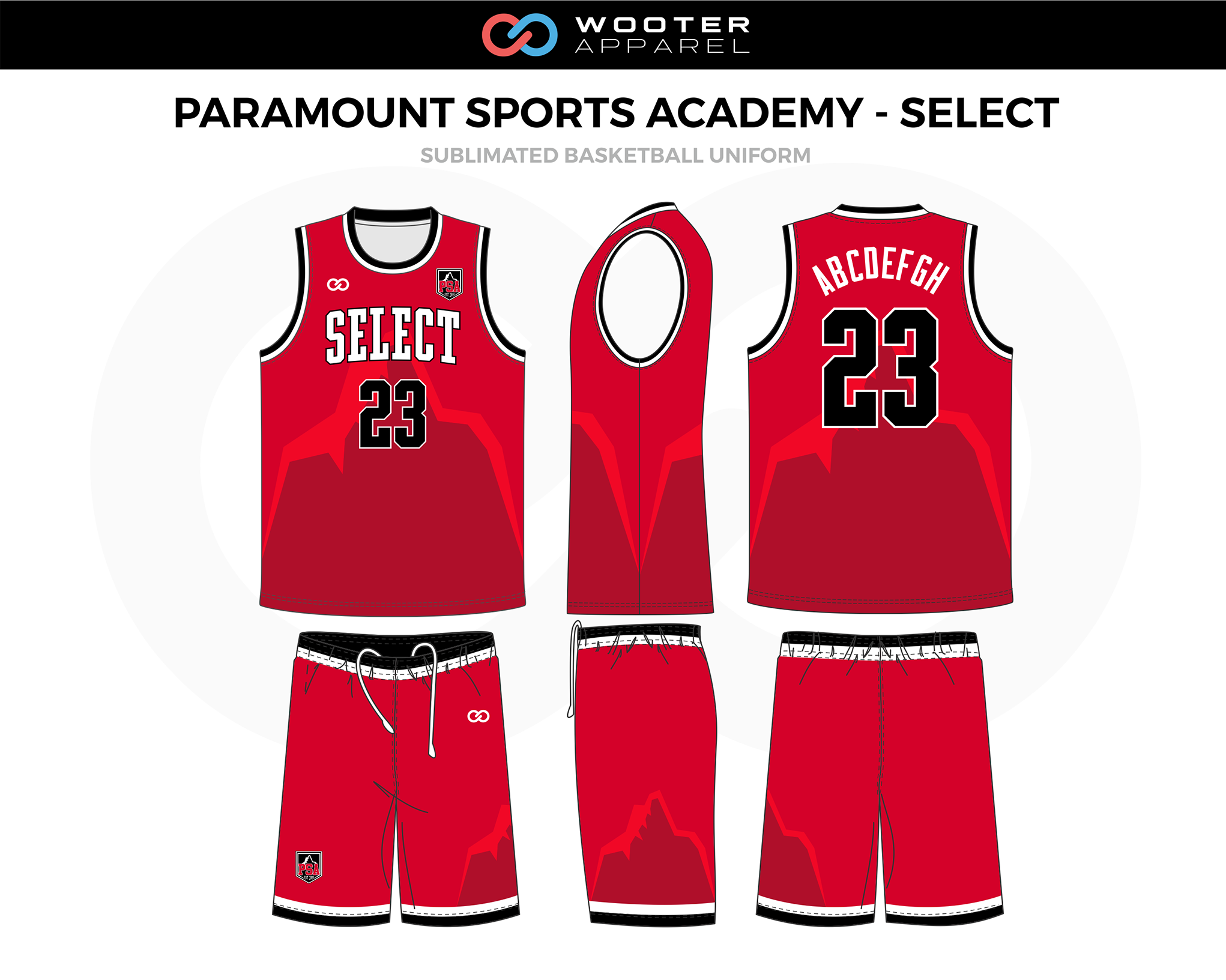 Paramount Sports Academy Red Maroon Black White Custom Basketball Uniform Jerseys Shorts In 2020 Basketball Uniforms Design Jersey Design Basketball Uniforms