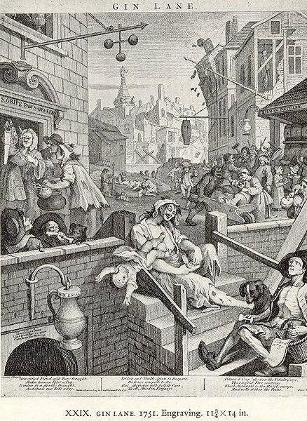 William Hogarth Beer Street And Gin Lane 1751 Hogarth Engraved