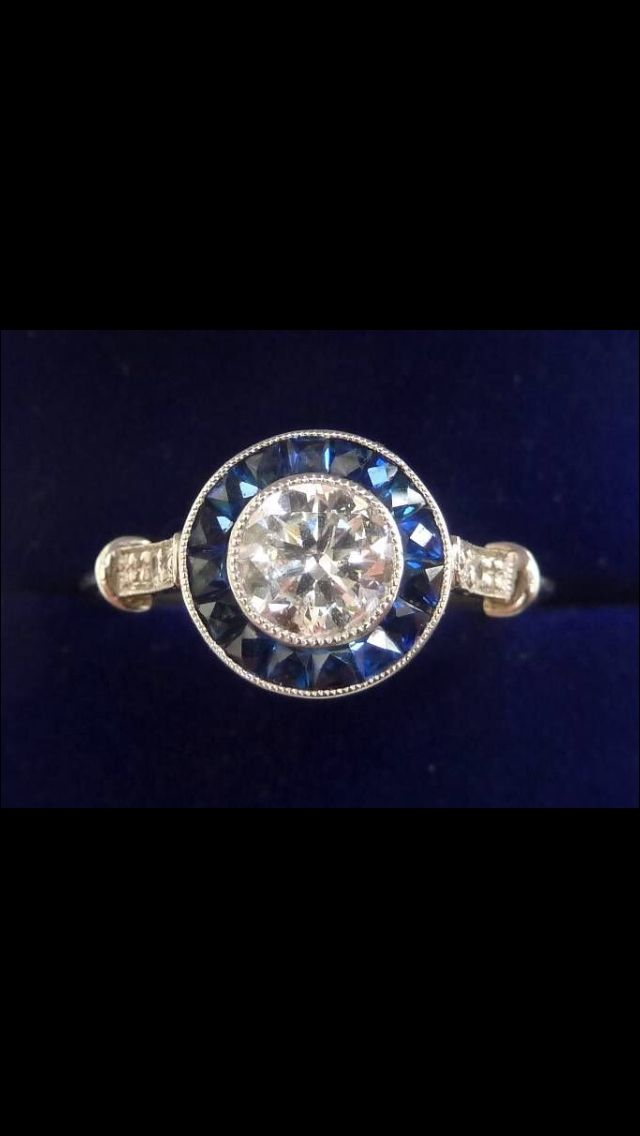 diamond and sapphire target ring - Target Wedding Rings