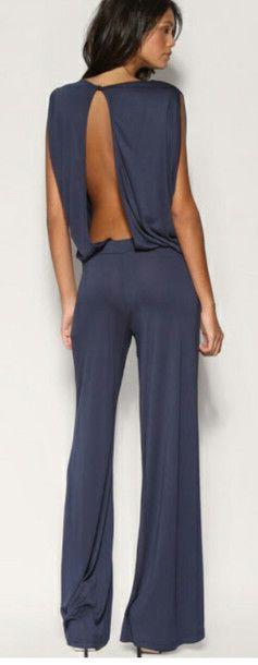 Pants romper backless jumpsuit sexy elegant classy - Jumpsuit elegant hochzeit ...