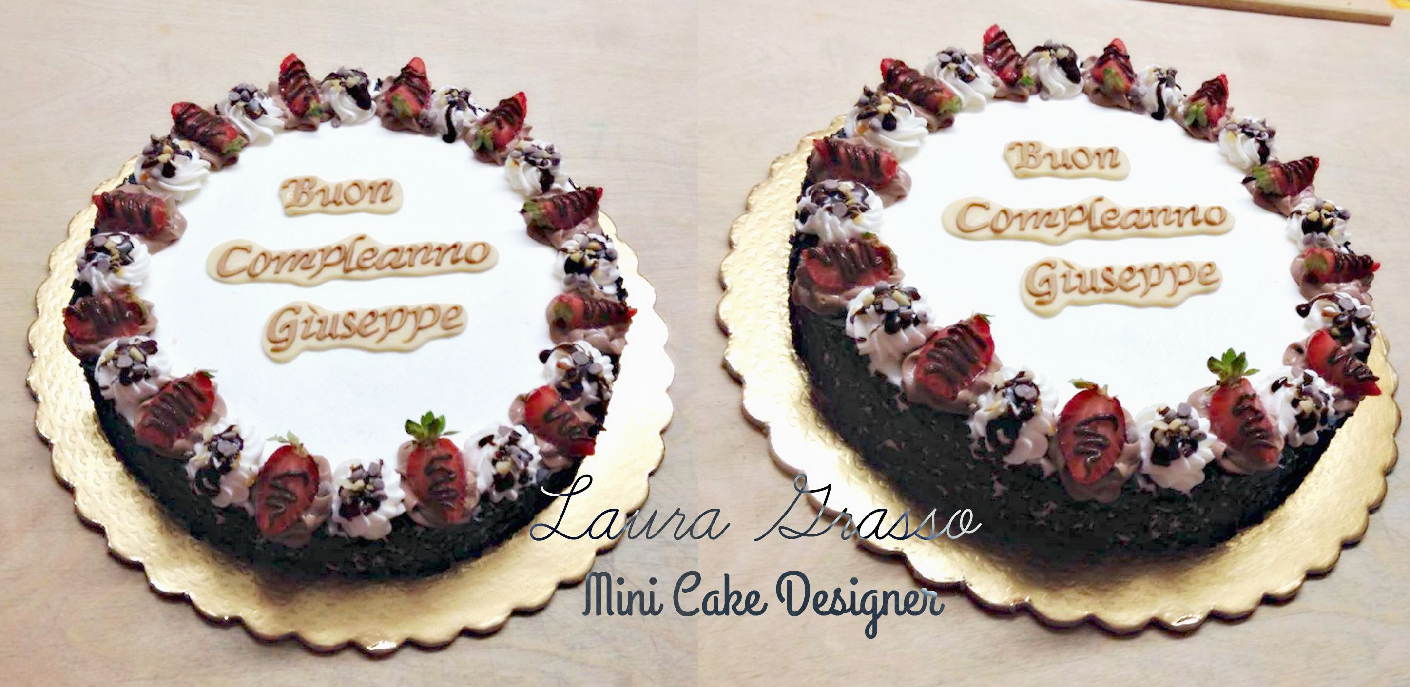 Strawberries and chocolate cream cake for Giuseppe's Birthday ...