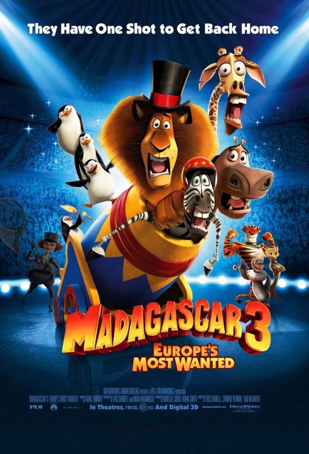 Madagascar 3 Europe S Most Wanted 2012 Madagascar Movie Kid Movies 2012 Movie