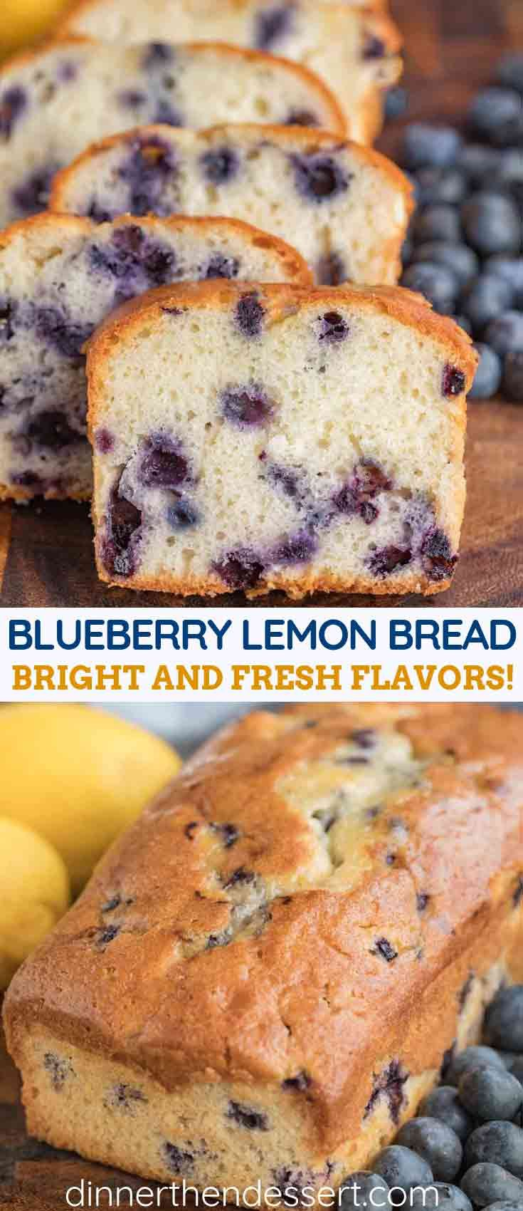 Blueberry Lemon Bread is soft, moist, tender and made with a full cup of fresh blueberries, fresh l