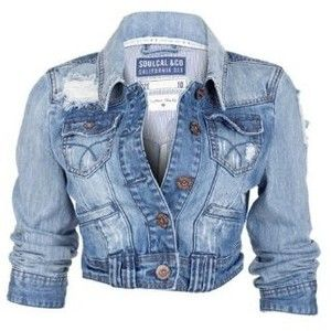 Soul Cal Deluxe Vintage Denim Jacket - Light blue - Womens ...