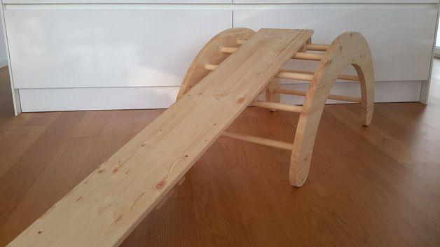 Kletterbogen Holzwippe : Motorikspiele kletterbogen nach emmi pikler ein designerstück