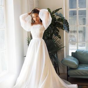 Wedding dress 'KAMILLA' / satin wedding dress