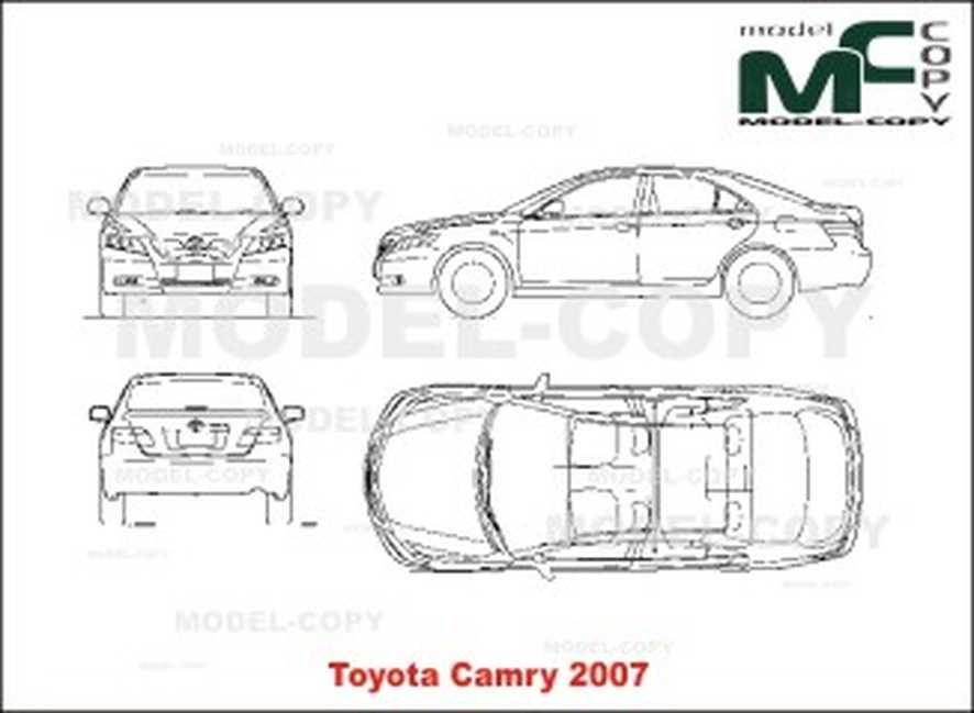 toyota camry  2007  - disegno