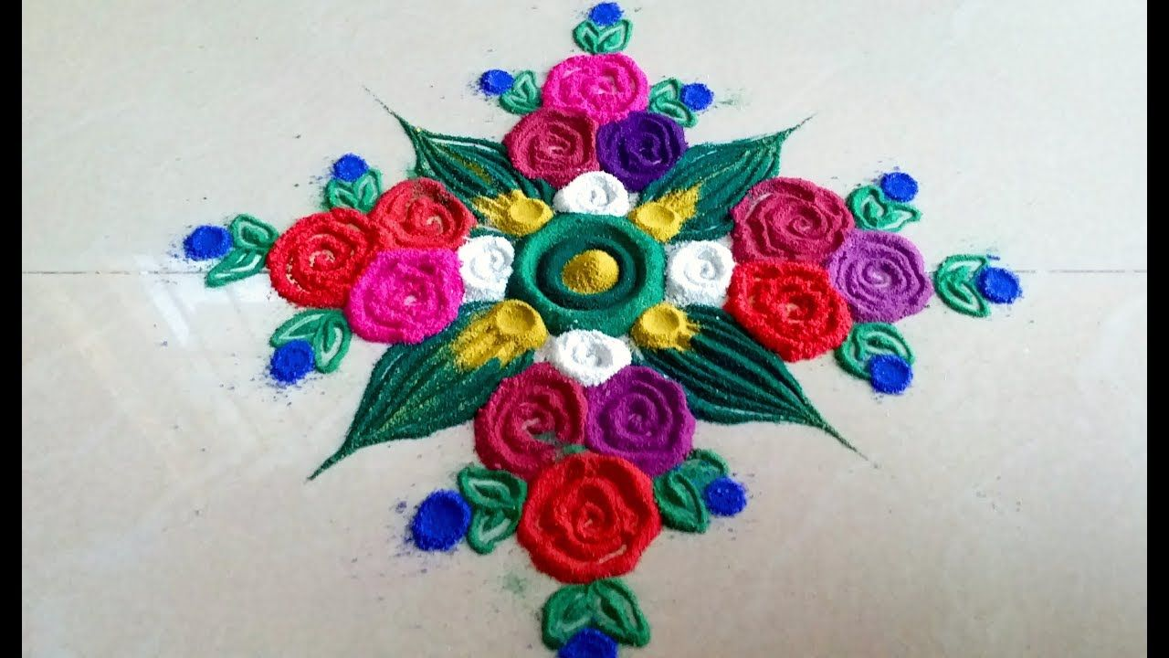 New Simple Easy Rangoli Art Designs Beautiful Muggulu Big