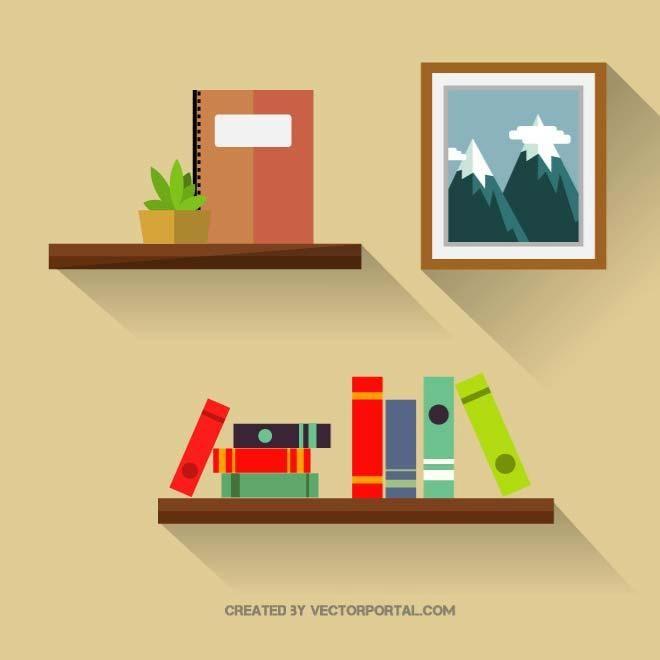 Bookshelf Vector Graphics Free Vector Graphics Vector Free Minimalist Wallpaper