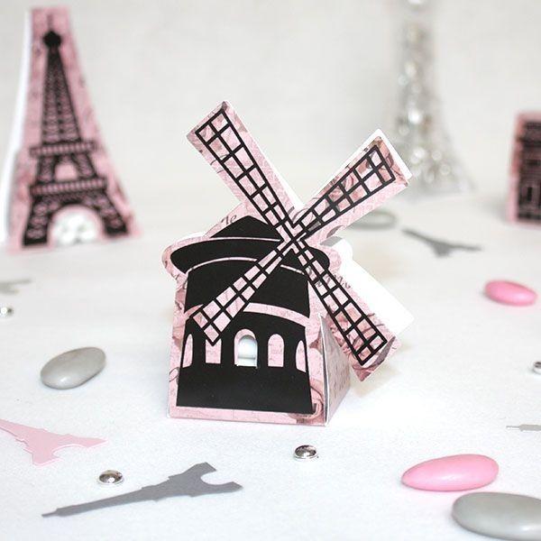Un contenant à dragées idéal pour un thème Paris, le Moulin rouge est un incontournable des nuits Parisiennes, un cabaret prestigieux. Une ballade amoureuse de Pigalle jusqu'aux romantiques ruelles de la Butte Montmartre.