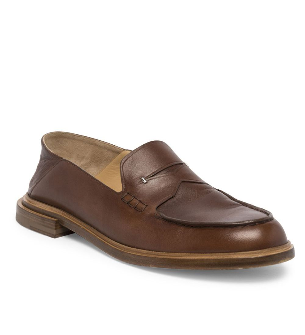 Fendi alf Leather Penny Loafers Brown $169.00
