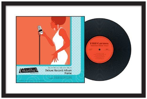 Mcs Deluxe Record Album Frame 25 By 165 Inch Black Fin