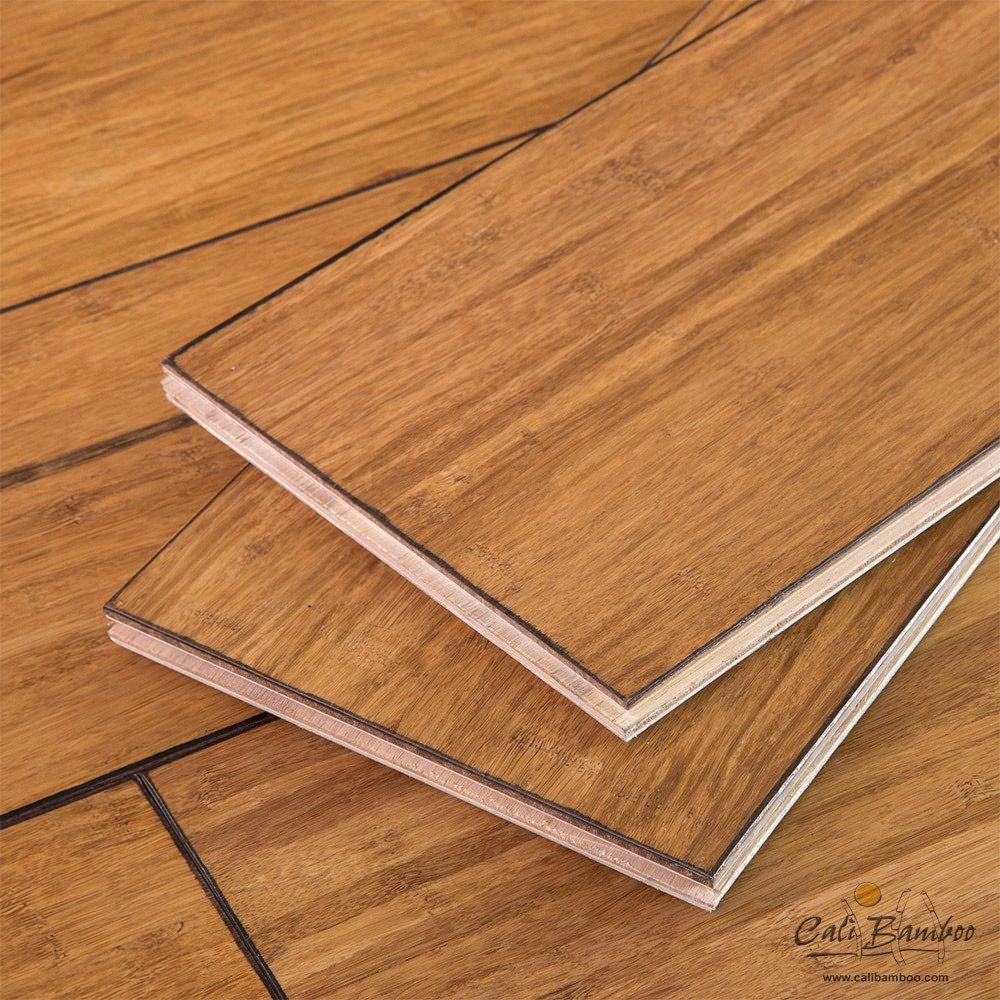 Engineered Wood Floor In Distressed Mocha Sample House