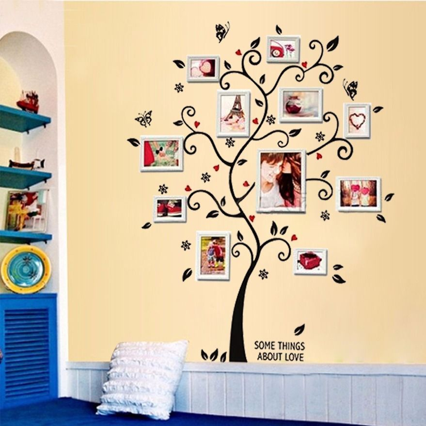 Free Shipping:100*120Cm/40*48in 3D DIY Removable Photo Tree Pvc Wall ...