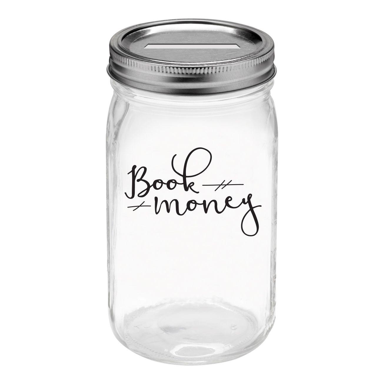 The book jar: Book money
