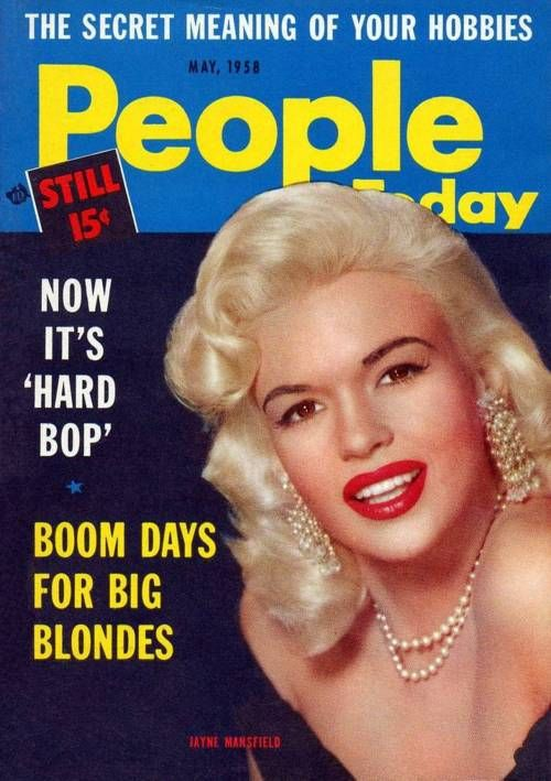 Jayne Mansfield on the cover of People Today, May 1958.