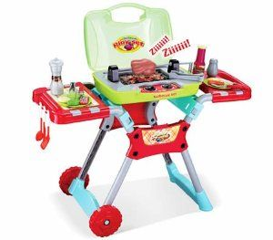 Amazon.com: Liberty Imports Deluxe Kitchen BBQ Pretend Play Grill Set with Light and Sound: Toys & Games