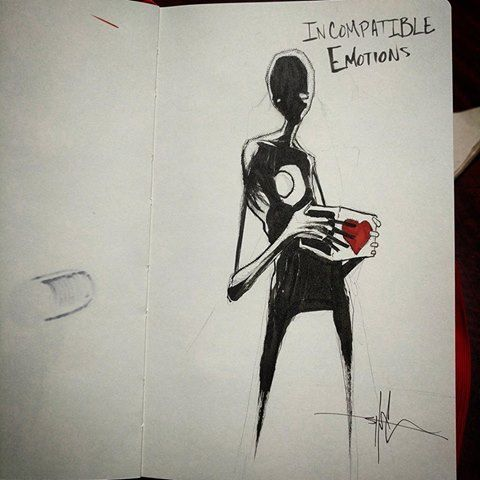Incompatible Emotions Shawn Coss Dem Pieces Of Art Pinterest