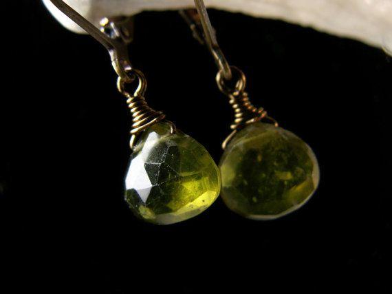 Green Vessonite Gemstone Crystal Bronze by TitanicTemptations, $39.00