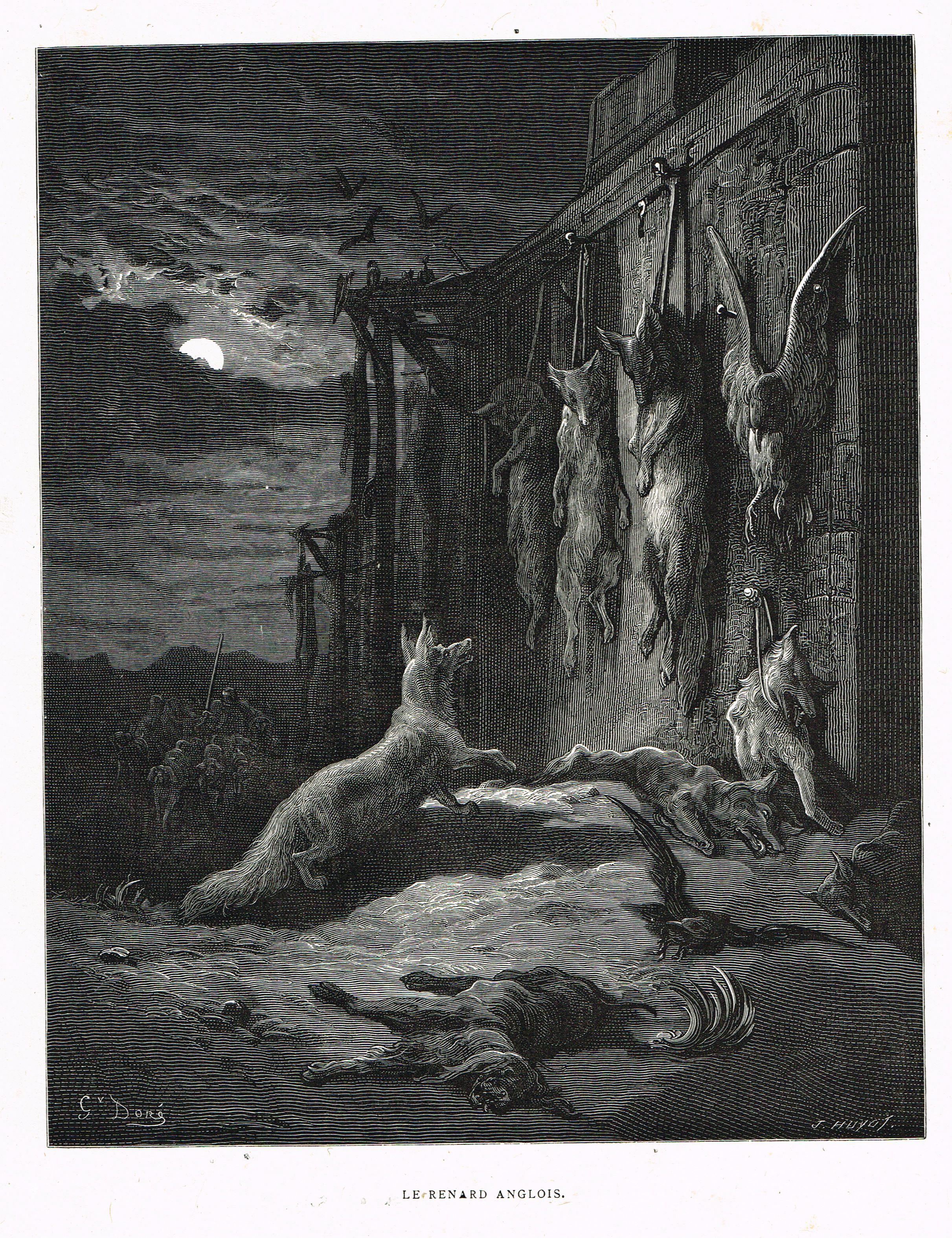 Anglois le renard anglois - fable de jean de la fontaine illustrée