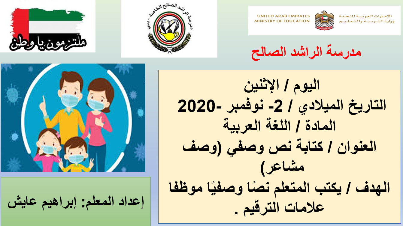 درس كتابة نص وصفي وصف مشاعر الصف الرابع مادة اللغة العربية بوربوينت The Unit Emirates Comics