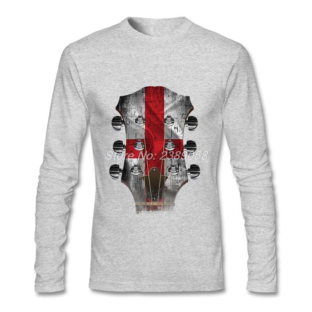 T shirts male guitar head england printed fashion style wholesale