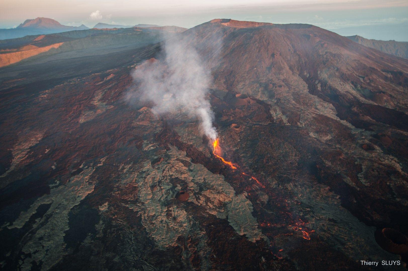 Eruption On Piton De La Fournaise Archipelago Natural Landmarks Volcano