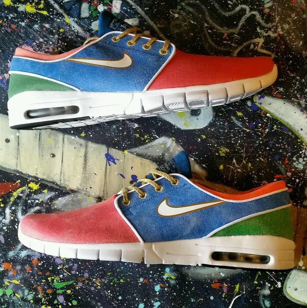 $180 Concepts x Nike Sb Stefan Janoski Max Mosaic Size 14 Special Box #Grail #Skateboarding