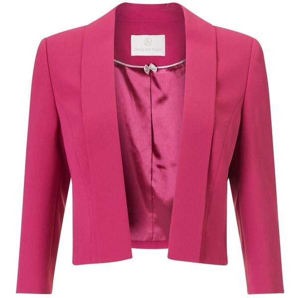 Jacques Vert Edge To Edge Jacket, Dark Pink (1.345 ARS) ❤ liked ...