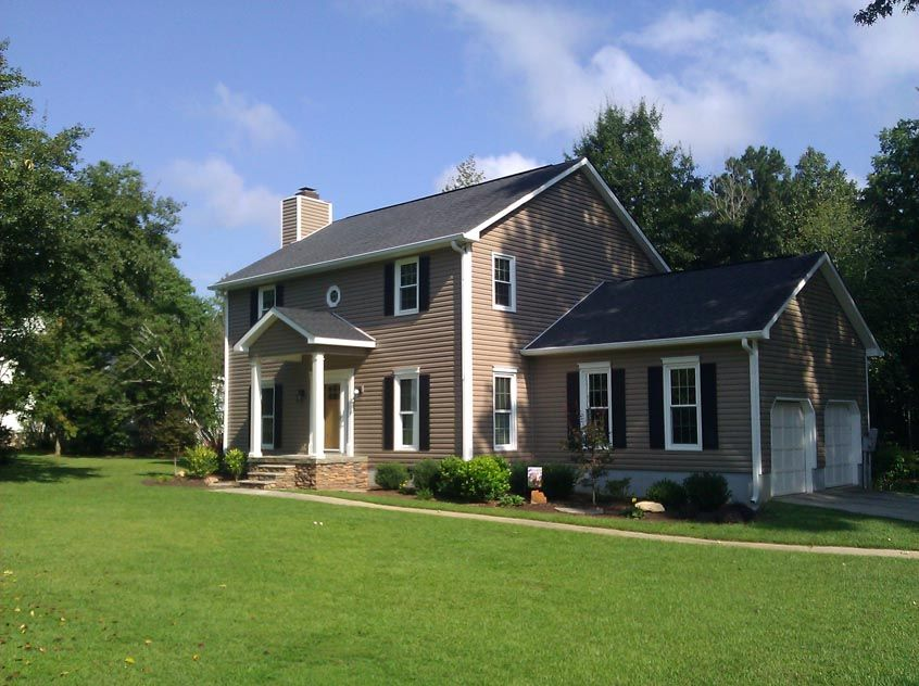 Brown Siding Black Shutters Porch Remodel Front Porch Remodel Porch Addition