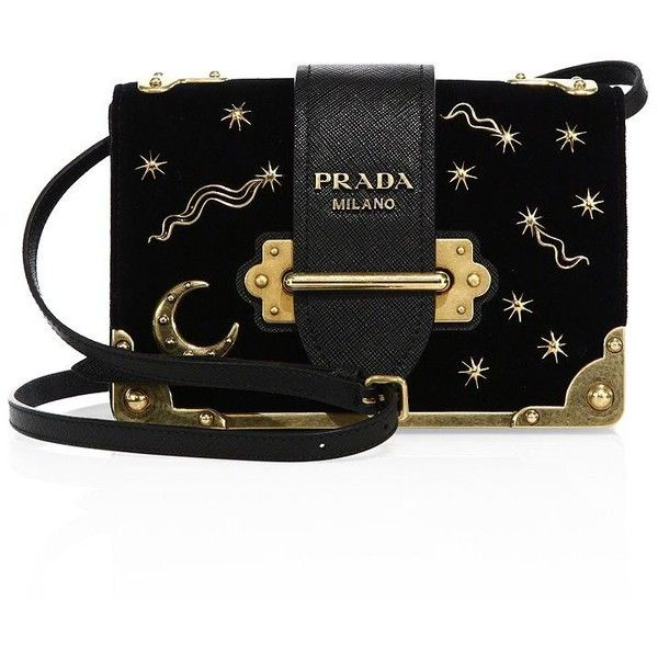 ef7d97cfee61 ... usa prada small velvet astrology cahier bag 2090 liked on polyvore  featuring bags handbags apparel accessories ...