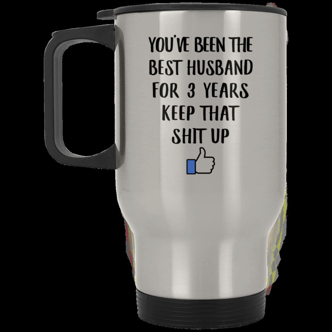 3 Year Anniversary Gift For Him 3th Yr Together Travel Mug
