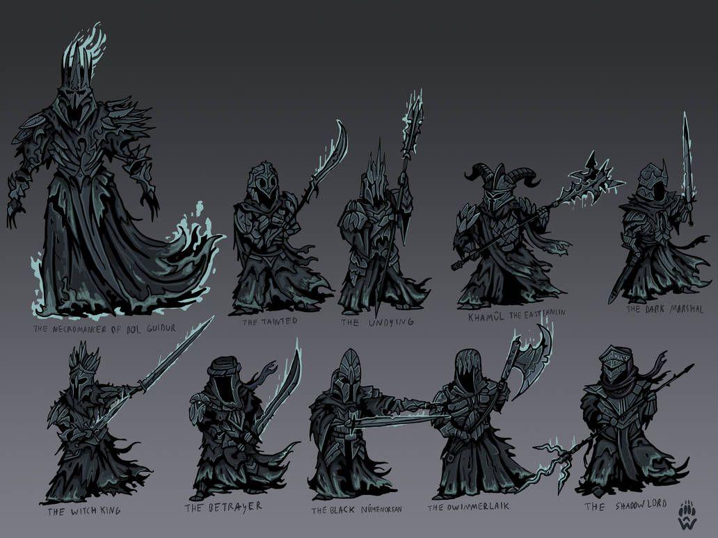 Nazgul And Necromancer Darkest Dungeon Lotr By Wolfdog Artcorner Darkest Dungeon Middle Earth Art Nazgul Art