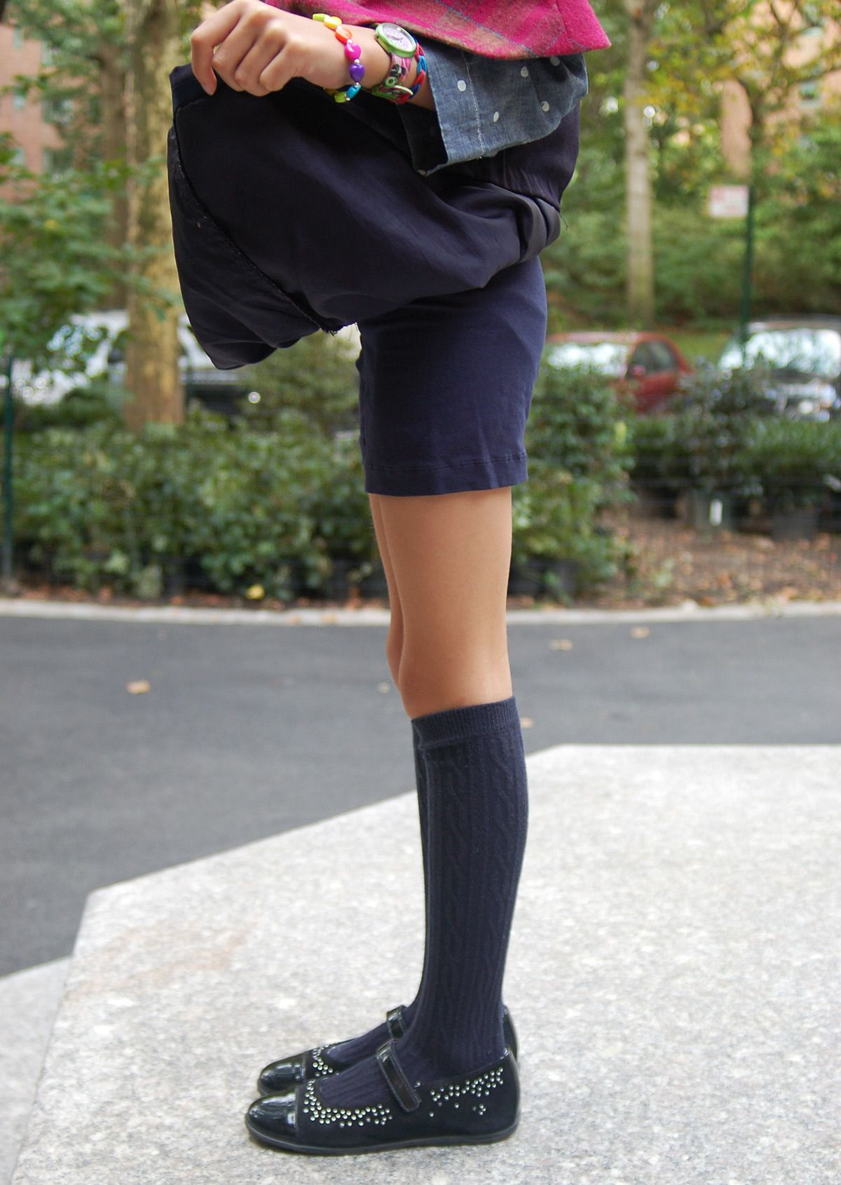 customizing with oliver + s: playtime leggings as playground shorts