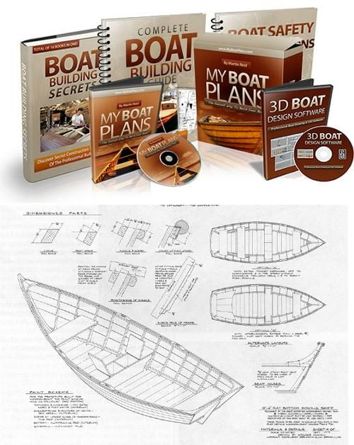 My Boat Plans package - 518 detailed boat plans | Kajak, Boote