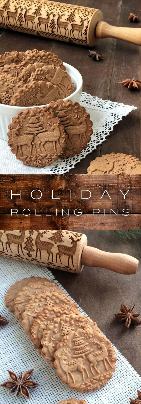 Holiday 3d Pattern Rolling Pins Get Into The Festive